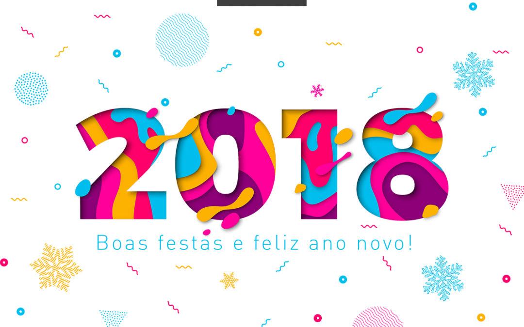 Boas festas e feliz 2018.